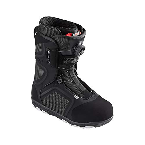 HEAD Unisex Four Boa Waterproof Quick-Dry Freeride Snowboard Boots, Black, 270