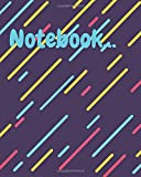 'Colorful Lined Decorated Cover Notebook': Amazing notebook,Great gift for boys girls and kids,Good for journaling and making notes at school and home etc... Size(8 x 10 in _ 240 pages).
