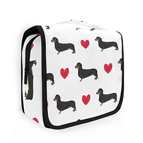 CaTaKu Sac de toilette multifonction pour chien Motif cœur et animal