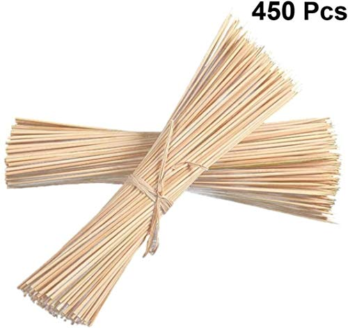 Fantastic Prices! XJJ 450pcs Barbecue Skewers Natural Bamboo Skewers for BBQ Appetiser Fruit Cocktai...