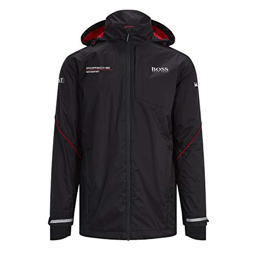 Porsche Motorsport Team Black Rain Jacket w/Motorsport Kit (XL)