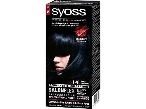 Syoss Color Classic SalonPlex Permanent hair dye 1-4 Blue Black