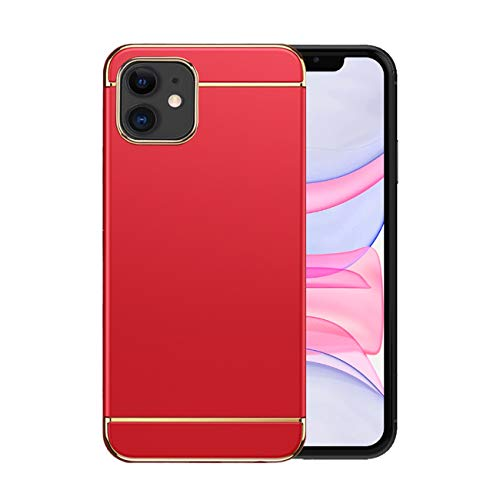 Funda iPhone 12/12 Pro Apple Case,Fundas iPhone 12/12 Pro Antigolpes Carcasa Diseño Minimalista Estuche Rígido Ultra Original Delgado de PC a Prueba (iPhone 12, Rojo)