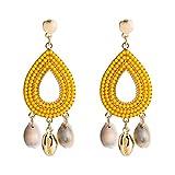 Accesorios de ropa destacados Personalmente la manera europea y estadounidense pendientes de oro de ...