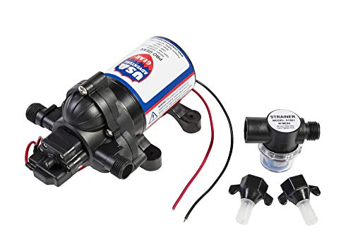 ProGear 3200 RV Replacement Water Pump | 2088/4008 Revolution Direct Replacement | 3.3 GPM Strong Flow | 12 Volt DC | Self-Priming | Approved for Potable Water Use