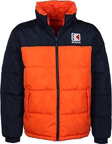 Karl Kani Herren Puffer Jackets Retro Reversible orange S