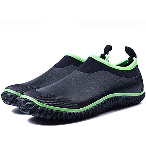 [ZHShiny] メンズレインブーツスノーラバー防水ネオプレン低園芸靴カーウォッシュシューズレディースカップル