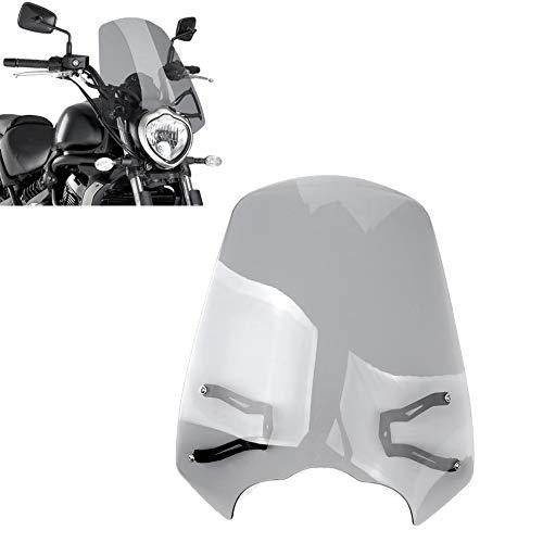 Moligh doll Motorrad Windschutz Scheibe Windschutz Scheibe Halterung Schutz für Kawasaki Vulcan S 650 2015-2018 Grau