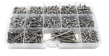 iExcell 1050 Pcs M3 x 4/5/6/8/10/12/14/15/16/18/20/22/25/30mm Stainless Steel 304 Hex Socket Head Cap Screws Bolts Nuts Assortment Kit