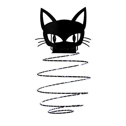 GiveU Schwarze Katze, solarbetriebene Laterne, tragbar, Halloween-Outdoor-Landschafts-Lampe für Garten, Terrasse, Dekoration, 27,9 cm