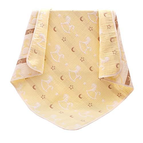 Happy Cherry - Infamtil Couverture Alogodon Respirante pour Nouveau-Né pour Berceaux lit Poussette Berceuses pour Bébé été 3 Couches Doux Confortable