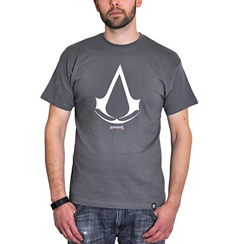 ABYstyle - Assassin's Creed - Tshirt Logo Homme Gris (XL)