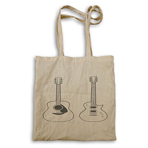 Hand gezeichnete Gitarre Tragetasche u414r