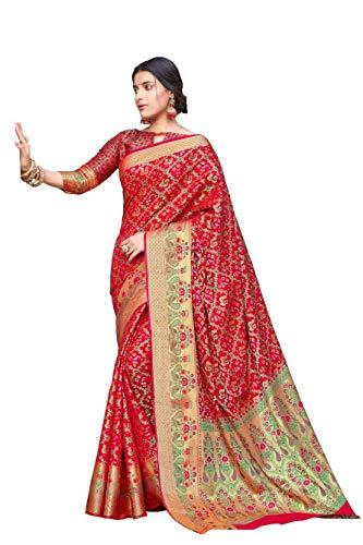 HAOK Sarees For Women's Patola Art Silk Sari | Regalo indio Boda...