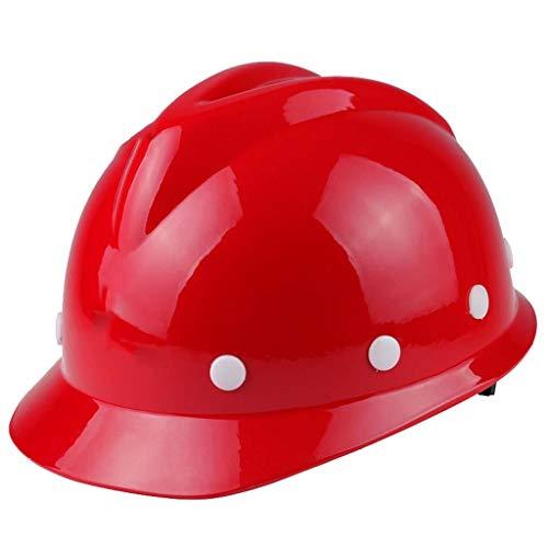 XHDP Schutzhelm Baustelle Lüftungs Glasfaser Kunststoff Engineering Schutzhelm, geeignet for Energie Bergbau Baustelle Eisenbahn Umfrage verstärkt (Color : C)