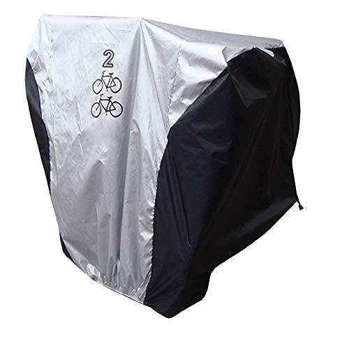 iwobi Telo Copribici,Custodie per Bicicletta/Copertura per Bicicletta Impermeabile,Protezione UV,Resistente alla Polvere,per 2 Bicicletta