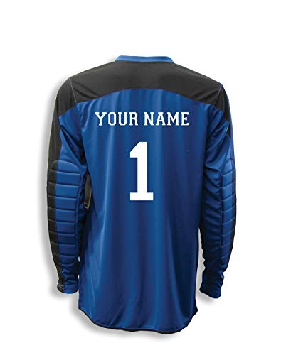 Diadora Enzo Goalkeeper Jersey Personalized with Your Name and Number - Color Royal - Size Adult Large