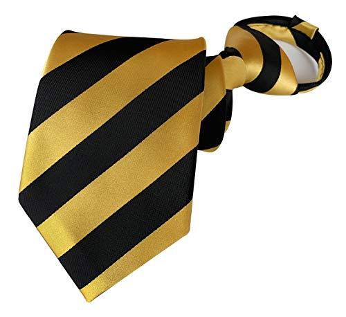 Secdtie Herren Jungen Reißverschluss Krawatte Business Hochzeit Kariert Vorgebundene Krawatte - - Einheitsgröße
