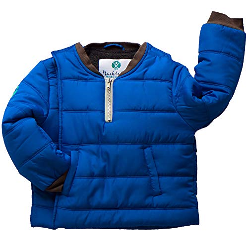 Buckle Me Baby Coat - Safer Car Seat Unisex Winter Jacket - Deepest of Oceans Blue - Infant Size 6-9 Months