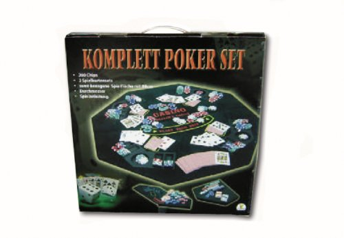 Spielwaren The Toy Company 6153288 - Set Poker con Tappetino, 200 Chip