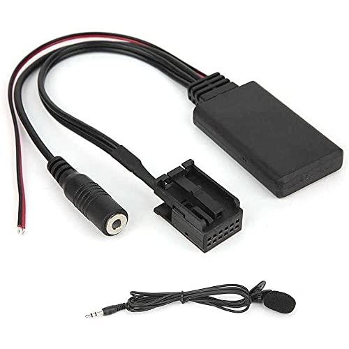 qinjun 12PIN coche Bluetooth módulo micrófono manos libres adaptador compatible con X3 X5 Z4 E83 E85 E86 E39 E53