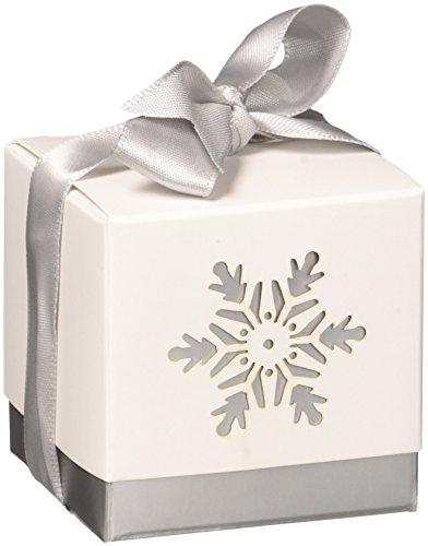 "Kate Aspen ""Winter Dreams"" Laser Cut Snowflake Favor Box, Set of 24"