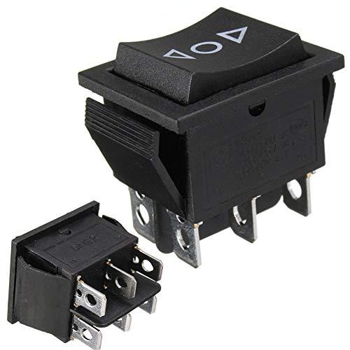 Interruptor basculante de 12 V CA 250 V / 16 A, 6 pines, interruptor de 2 polos, para antena, elevalunas eléctrico, techos deslizantes (2)