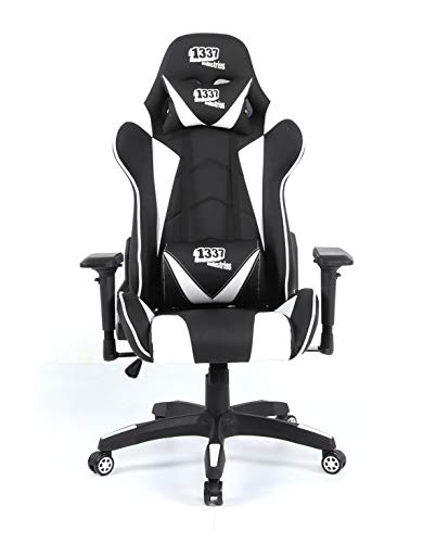1337 industries - Silla Gaming gc790 Negro y Blanco