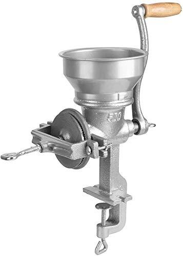 500G Kleine handbetriebene Getreidemühle Grinder, Tischklemme Mühle-Maschine mit Holzgriff für Getreide, Bohnen, Kaffee, Weizen, Mais Medizin Herb Mehl