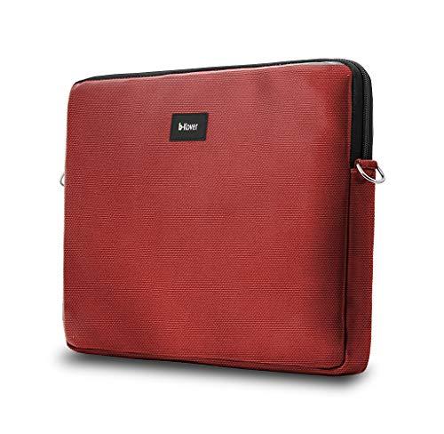 b-Kover vegane Leder Laptop-Hülle, 11 13 14  15.6 17 Zoll, süße wasserdichte Schutzhülle, Soft Touch Tasche mit Reißverschluß für Arbeit, Schule & Reisen