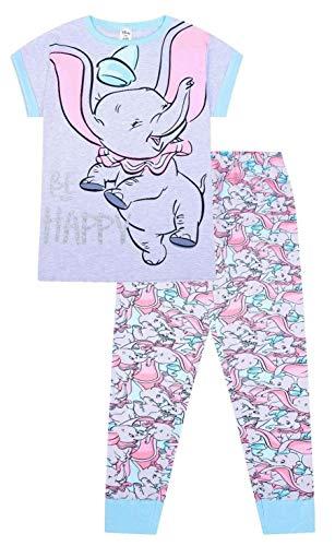 Disney Dumbo Be Happy langer Damen-Schlafanzug aus Baumwolle Gr. 34, rose