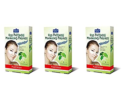 Purederm Eye Puffiness Minimizing Ginkgo Eye Patches (3 Pack - 12 Treatments / 24 Patches) by Adwin Korea