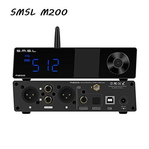 S.M.S.L M200 AK4497 LDAC AptX-HD Bluetooth 5.0 DAC Hi-Res 32bit / 768kHz DSD512 DAC USB coaxial óptico Descifrador