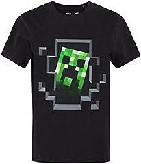 Minecraft Camiseta Estampada Manga Corta para Niños