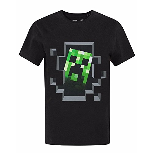Minecraft - Camiseta de manga corta oficial modelo Minecraft Creeper Inside para...
