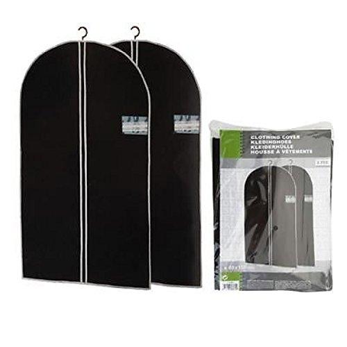 Super pratiche sacchetti per abiti porta abiti-2pz-100x 60cm-per il trasporto e lo stoccaggio