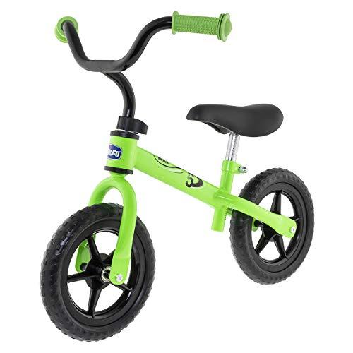 Chicco Bicicleta sin Pedales First Bike para Niños de 2 a 5 Años, Bici para Aprender a Mantener el Equilibrio con Manillar y Sillín Ajustables, Verde - Juguetes para Niños de 2 a 5 Años