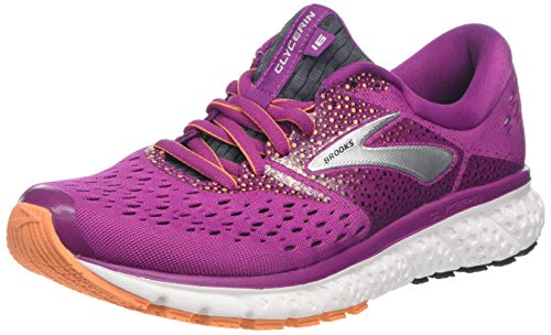 Brooks Damen Glycerin 16 Laufschuhe, Schwarz (Wild Aster/Fig/Orange 586), 37.5 EU