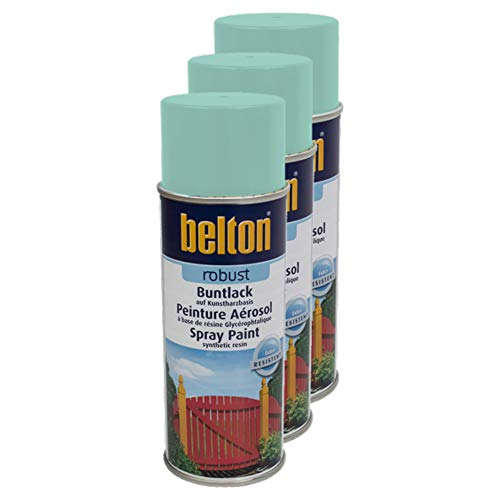 Kwasny 3X Belton Robust Buntlack Lackspray Lack Spray Spraylack Mintgruen Hochglanz 400 Ml