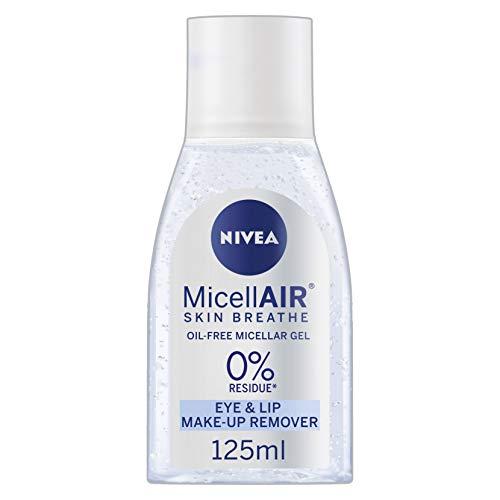 NIVEA MicellAIR Skin Breathe Oil-Free Micellar Gel (125 ml), Micellar Face & Eye Make-up Remover Hautreiniger, ölfreier Make-up Entferner