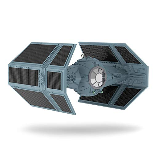 Hallmark Keepsake Christmas Ornament 2019 Year Dated Star Wars Darth Vader's TIE Fighter With Light and Sound