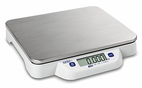 Bilancia da tavolo [Kern ECB 20K-2N] Piatta, mobile, semplice, Pesata in acciaio inox, Campo pesata [Max]: 20 kg, leggibilità: 10 g.