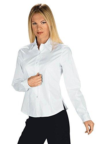 Robinson Panama Stretch Chemisier Femme Blanc 97% Coton 3% Élasthanne - Blanc - Medium
