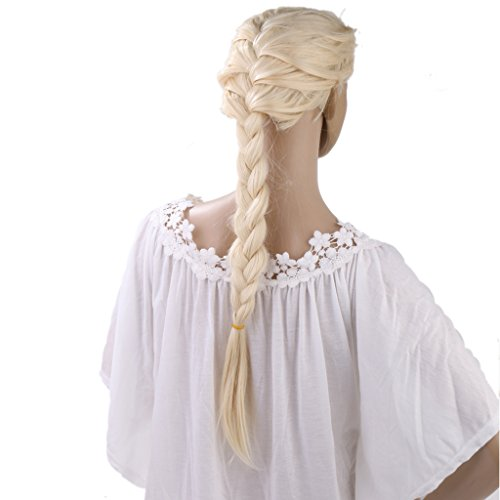 Gazechimp Frozen Tresse Perruque Or Brillante Tresse de Dessin Animé pr Enfant Fille