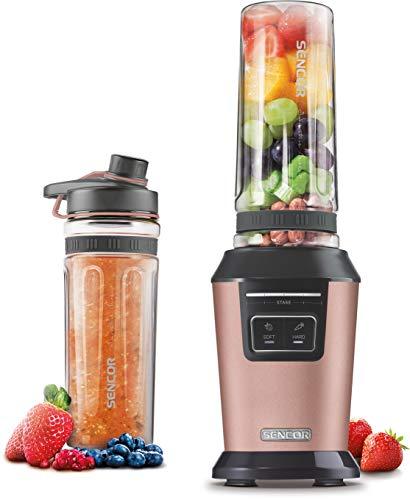 SENCOR SBL 7075RS, batidora de vaso, batidora para smoothie, con 2 botellas deportivas, sin BPA