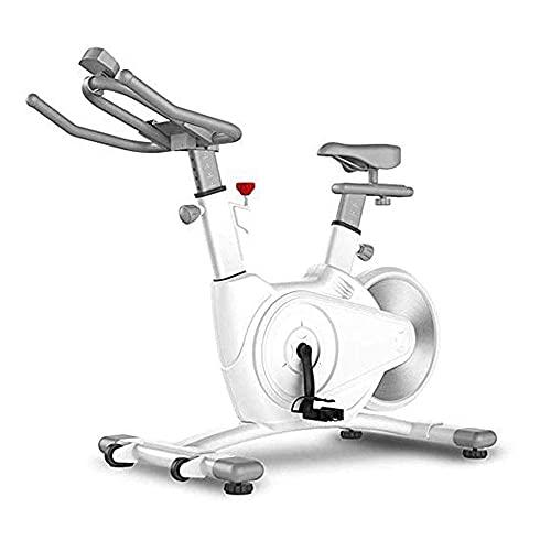 SAFGH Bicicleta estática Ajustable, Bicicleta estática, Bicicleta de Interior, con sensores de frecuencia cardíaca, Pantalla LCD, Bicicleta estática Profesional para Uso en el hogar y el Gimnasio