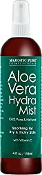 aloe vera mist for dry, rough, and itchy skin.