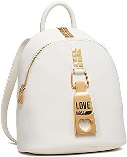 Love Moschino Damen Rucksack JC4087 Pu Bianco Synthetisch Weiss