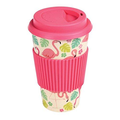 Bambus Kaffeebecher Coffee to go Flamingo