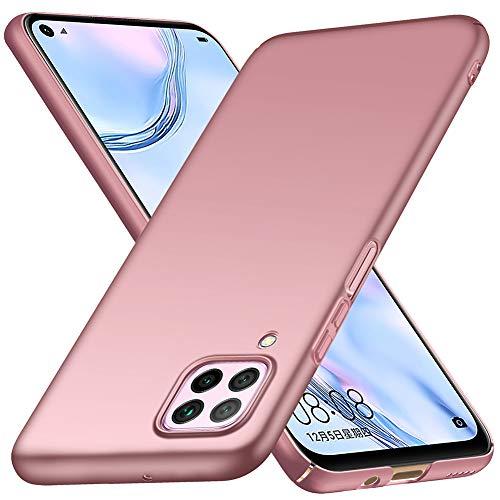 ORNARTO Hülle für Huawei P40 Lite, Ultra Dünn Schlank Anti-Scratch FeinMatt Einfach Handyhülle Abdeckung Stoßstange Hardcase für Huawei P40 Lite(2020) 6,4 Zoll Rose Gold